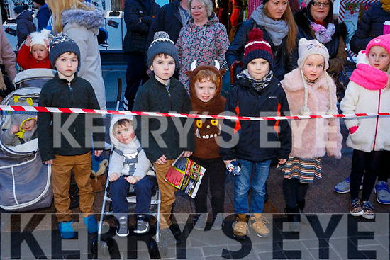 Waiting for Santa at CH Chemist Christmas Parade Tralee on Saturday were Ryan, Scott, Brandan, Neill O'Shea, Martin Hruz, Lucy O'Shea and Emma O'Shea