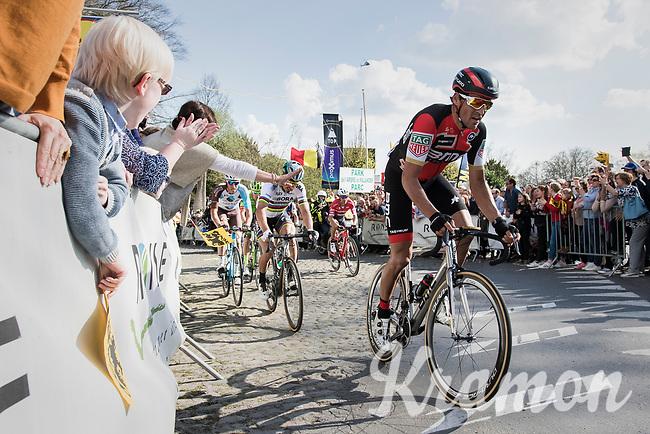 Greg Van Avermaet (BEL/BMC) on top of the Kruisberg<br /> <br /> 101th Ronde Van Vlaanderen 2017 (1.UWT)<br /> 1day race: Antwerp &rsaquo; Oudenaarde - BEL (260km)