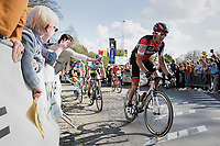 Greg Van Avermaet (BEL/BMC) on top of the Kruisberg<br /> <br /> 101th Ronde Van Vlaanderen 2017 (1.UWT)<br /> 1day race: Antwerp › Oudenaarde - BEL (260km)