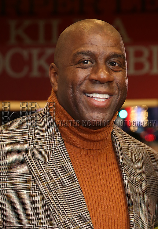 "Earvin Magic Johnson attends the Broadway Opening Night Performance of ""To Kill A Mockingbird"" on December 13, 2018 at The Shubert Theatre in New York City."