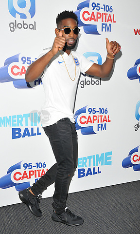 Tinie Tempah at the Capital FM Summertime Ball in aid of the Help a London Child charity, Wembley Stadium, Wembley, London, England, UK, on Saturday 11 June 2016.<br /> CAP/CAN<br /> &copy;CAN/Capital Pictures /MediaPunch ***NORTH AND SOUTH AMERIcAS ONLY***