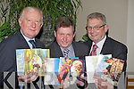 ..Frank Hayes (Kerry Group), Dr Billy O'Connor(Listowel) and Ted Moynihan (KHF) who launched the 2012 Kerry Hospice Foundation Christmas Card at the Pallative Cancer Centre, Kerry General Hospital...