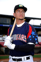 Kane County Cougars outfielder Albert Almora #2 poses for a photo before a game against the Beloit Snappers on May 26, 2013 at Fifth Third Bank Ballpark in Geneva, Illinois.  Beloit defeated Kane County 6-5.  (Mike Janes/Four Seam Images)