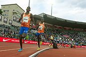 June 15th 2017, Bislett Stadion , Oslo, Norway; Diamond League Oslo Bislett Games;  L-R Andrew Kiptoo Rotich of Kenya, Elijah Kipchirchir Kiptoo of Kenya compete in the men's 1500m during the IAAF Diamond League held at the Bislett Stadium