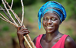 "Marion Zenneh, 23, is one of several dozen women who work together to grow cassava on a six-acre farm in Mount Barclay, Liberia. The income-generating project, called ""Say No to Poverty,"" is administered by the National Federation of Women Employees and Allied Workers, with financial support from United Methodist Women."