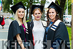 Hannah O'Sullivan, Ballyhigue, Childcare, Aisling O'Carroll, Tarbert, Childcare with special needs and Anne O'Fuarain, Ballyhigue, Childcare with special needs at the Kerry College of Further Education Graduations at the Brandon Hotel on Thursday.