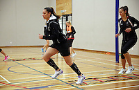 29.08.2016 Silver Ferns Grace Rasmussen train and have a weights workout in Hamilton. Mandatory Photo Credit ©Michael Bradley.