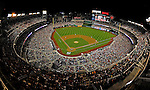 18 May 2012: A night time crowd of 36,680 fans watch the Washington Nationals host the Baltimore Orioles at Nationals Park in Washington, DC. The Orioles defeated the Nationals 2-1 in the first game of their 3-game series. Mandatory Credit: Ed Wolfstein Photo