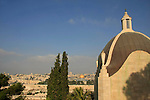 "Israel, Jerusalem, Church of Dominus Flevit on the Mount of Olives., its name means ""The Lord Wept"", the chapel was designed in the shape of a teardrop and built in 1955 over a 7th century chapel"