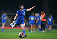 28th December 2019; Twickenham, London, England; Big Game 12 Womens Rugby, Harlequins versus Leinster; Hannah O'Connor of Leinster attempts a conversion kick - Editorial Use