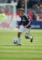 02 April 2011: Chivas USA forward Marcos Mondaini #23 in action during an MLS game between Chivas USA and the Toronto FC at BMO Field in Toronto, Ontario Canada..The game ended in a 1-1 draw.