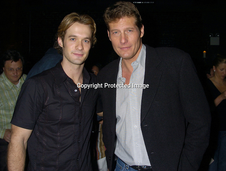 Matthew Metzger and Paul Satterfield ..at Marcia Tovsky's Pre Emmy Party on May 18, 2005 at ..Neogaea. ..Photo by Robin Platzer, Twin Images
