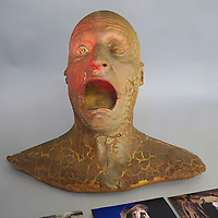 BNPS.co.uk (01202 558833)<br /> Pic: Aston'sAutioneers/BNPS<br /> <br /> A special effects bust from one of the most famous scenes in Indiana Jones and the Raiders of the Lost Ark has emerged for sale at auction.<br /> <br /> The macabre-looking head and shoulders of the Nazi official Colonel Dietrich was used near the end of the film when the ark was opened.<br /> <br /> In the iconic scene, several Nazi soldiers are brutally killed by spirits which erupt from the ark, burning them to death.<br /> <br /> The 'angels of death' cause Dietrich's head to shrivel up leaving a stunned expression across his face.