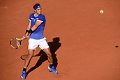 June 9th 2017, Roland Garros, Paris, France; French Open tennis championships; Mens semi-finals: Rafael Nadal (esp) as he leads Dominic Thiem (aut) in the mens semi-final
