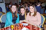 Elaine McGlynn, Nicoe Moriarty and Líobhan O'Callaghan at the Killarney Musical Society table quiz in the Dromhall Hotel on Sunday