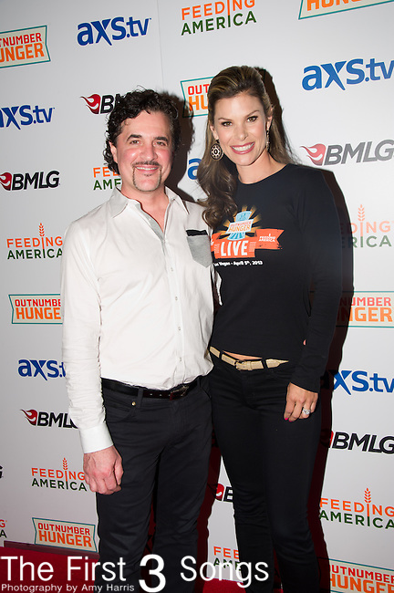 Scott Borchetta and Jamie Little arrive at the ACM Experience Outnumber Hunger event at The Orleans Arena in Las Vegas, Nevada.