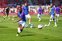 Raheem Sterling of Manchester City warms up during AFC Bournemouth vs Manchester City, Premier League Football at the Vitality Stadium on 25th August 2019