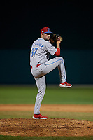 Clearwater Threshers relief pitcher Keylan Killgore (37) during a Florida State League game against the Dunedin Blue Jays on May 11, 2019 at Jack Russell Memorial Stadium in Clearwater, Florida.  Clearwater defeated Dunedin 9-3.  (Mike Janes/Four Seam Images)