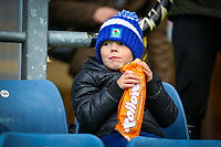 A young Blackburn Rovers fan enjoys a bite to eat before the match<br /> <br /> Photographer Alex Dodd/CameraSport<br /> <br /> The EFL Sky Bet Championship - Blackburn Rovers v Norwich City - Saturday 22nd December 2018 - Ewood Park - Blackburn<br /> <br /> World Copyright © 2018 CameraSport. All rights reserved. 43 Linden Ave. Countesthorpe. Leicester. England. LE8 5PG - Tel: +44 (0) 116 277 4147 - admin@camerasport.com - www.camerasport.com