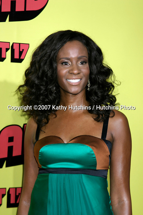 "Erica Vittina Phillips.""Superbad"" Movie Premiere.Grauman's Chinese Theater.Los Angeles, CA.Aug 13, 2007.©2007 Kathy Hutchins / Hutchins Photo...."