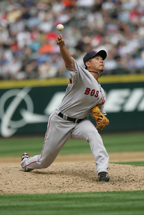 27 June 2007: Daisuke Matsuzaka Seattle Mariners vs Boston Red Sox at Safeco Park in Seattle, Washington.