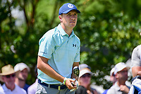 Jordan Spieth (USA) watches his tee shot on 7 during round 2 of the Dean &amp; Deluca Invitational, at The Colonial, Ft. Worth, Texas, USA. 5/26/2017.<br /> Picture: Golffile | Ken Murray<br /> <br /> <br /> All photo usage must carry mandatory copyright credit (&copy; Golffile | Ken Murray)