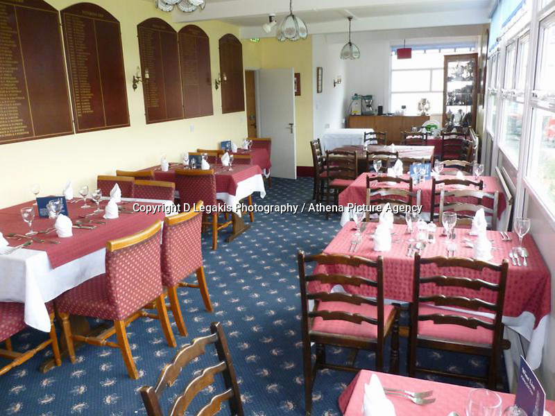 Pictured: The restaurant area of Palleg Golf Club in Lower Cwmtwrch near Swansea, Wales, UK STOCK PICTURE<br /> Re: Bosses of the Celtic Manor, where the Ryder Cup and the NATO summit were held, are threatening legal action against a village club in Swansea changing its name to Celtic Minor.<br /> Palleg golf club was renamed Celtic Minor by businessman owner John Adams to attract more members.<br /> But a spokesman for Celtic Manor warned they will fight &quot;any attempt to take unfair advantage of their reputation&quot;.<br /> Celtic Minor said &quot;there wasn't any issue&quot; with the name change.<br /> Club manager Melanie Eaton said the name change &quot;works in their favour.&quot;