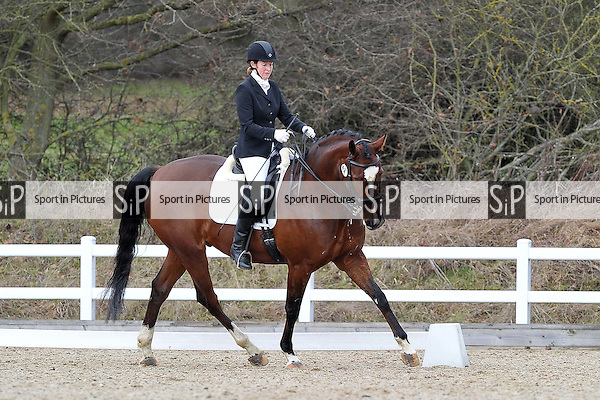 Class 5. Elementary 45. Affiliated dressage (BD). Brook Farm Training Centre. Essex. 14/01/2017. MANDATORY Credit Garry Bowden/Sportinpictures - NO UNAUTHORISED USE - 07837 394578