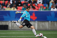 Austria goalkeeper (21) Michael Zaglmair. Austria (AUT) defeated the United States (USA) 2-1 in overtime of a FIFA U-20 World Cup quarter-final match at the National Soccer Stadium at Exhibition Place, Toronto, Ontario, Canada, on July 14, 2007.