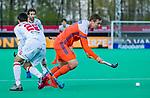 ROTTERDAM - Floris Wortelboer (NED) passeert Marc Miralles (Spain)   tijdens   de Pro League hockeywedstrijd heren, Nederland-Spanje (4-0) .  COPYRIGHT KOEN SUYK