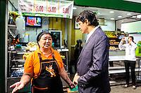 SAO PAULO, SP, 20.01.2014.SP O Prefeito de São Paulo Fernando Haddad durante encontro com comerciantes do Mercado Municipal de São Paulo, nesta segunda-feira, 20. (Foto: Adriano Lima / Brazil Photo Press)