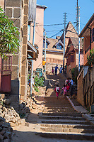 Africa, Madagascar, Fianarantsoa town. Street.
