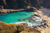 "The beach at Halona Cove (a.k.a. Eternity Beach) in Hawai'i Kai, O'ahu, where a scene from the movie ""From Here to Eternity"" was filmed in 1953."