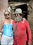 Mr. & Missus StinkE at the Virginia City Outhouse Races.  Photo by Tom Smedes.