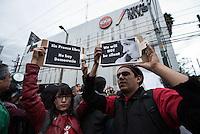 Protestan en MVS por el despido de Carmen Aristegui