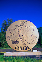 World's Largest Penny - Canadian One Cent Coin - Salmo, BC, Kootenay Region, British Columbia, Canada