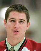 Matt McCollem (Harvard - 23) - The Harvard University Crimson defeated the St. Lawrence University Saints 4-3 on senior night Saturday, February 26, 2011, at Bright Hockey Center in Cambridge, Massachusetts.