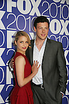 Diana Agron and Cory Monteith star in GLEE as he attends the FOX 2010 Programming Presentation (Upfronts) Post-Party on May 18, 2010 at Wollman Rink in Central Park, New York City, New York.  (Photo by Sue Coflin/Max Photos)