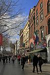 People walking along O'Connell Street, Dublin, Ireland, Irish Republic