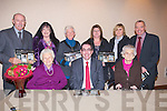 MEMORY: Theresa Lynch and Betty O'Going down memory lane at the launch of the Mitchels 75th 2010 Calander on Thursday night in The Carlton Hotel,Tralee also they are the oldest resident of the Mitchels . Front l-r: Betty O'Neill, Tom Curran (town manager) and Theresa Lynch. Back l-r: Tom O'Connor, Caoline Toal, Angela Walsh,Margert O Reilly, Dolores McEligott and Michael Scanlon (Town Clerk). . ............................... ..........