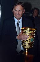 FUSSBALL      DFB POKAL FINALE       SAISON 2011/2012 Borussia Dortmund - FC Bayern Muenchen   12.05.2012 DFB Pokal Finale -Party von Borussia Dortmund im Ewerk Hans - Joachim Watzke (Geschaeftsfuehrer Borussia Dortmund) mit DFB Pokal