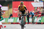 Primoz Roglic (SLO) Team Jumbo-Visma and World Champion Alejandro Valverde (ESP) Movistar Team cross the finish line in 3rd and 4th places at the end of Stage 9 of La Vuelta 2019 running 99.4km from Andorra la Vella to Cortals d'Encamp, Spain. 1st September 2019.<br /> Picture: Colin Flockton | Cyclefile<br /> <br /> All photos usage must carry mandatory copyright credit (© Cyclefile | Colin Flockton)