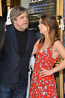 Mark Hamill &amp; Billie Lourd at the Hollywood Walk of Fame Star Ceremony honoring actor Mark Hamill, Los Angeles, USA 08 March 2018<br /> Picture: Paul Smith/Featureflash/SilverHub 0208 004 5359 sales@silverhubmedia.com