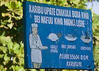 Afrique/Afrique de l'Est/Tanzanie/Dar es-Salaam: enseigne d'un restaurant