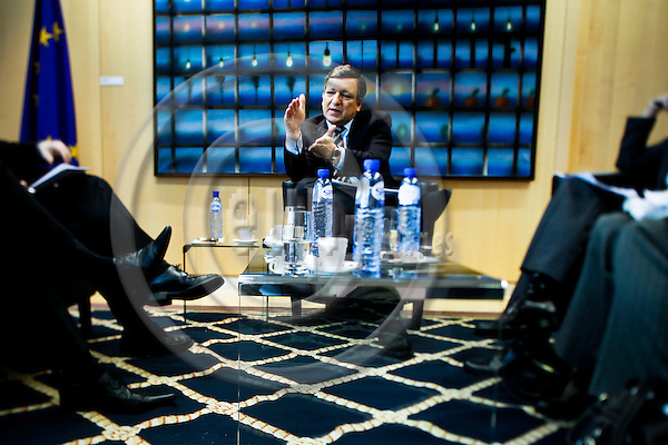 BRUSSELS - BELGIUM - 19 MARCH 2010 -- José Manuel BARROSO, President of the European Commission, during a interview at his office in the HQ of the EC. PHOTO: ERIK LUNTANG / EUP-Images