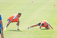 Players, Cristiano Ronaldo and Illarramendi, during Real Madrid´s first training session of 2013-14 seson. July 15, 2013. (ALTERPHOTOS/Victor Blanco) ©NortePhoto