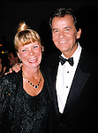 Dick Clark with his wife .in New York City..May 1990.