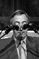 .Nestor Kirchner 53,  Former Argentine Presidential , delivers a nationwide speech in Buenos Aires, May 14,2003.