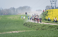 approaching dust cloud<br /> <br /> 115th Paris-Roubaix 2017 (1.UWT)<br /> One Day Race: Compiègne › Roubaix (257km)