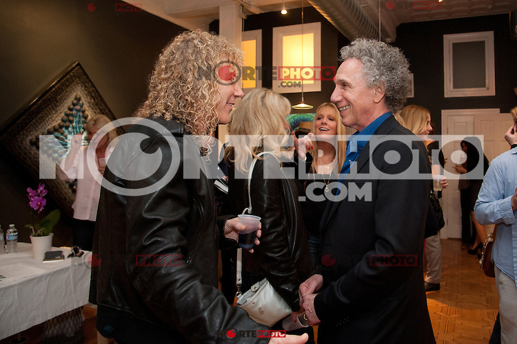 "David Bryan of Bon Jovi and Bob Gruen at the Bob Gruen ""Rock Seen"" photo exhibition at Art629 in New York City. May 4, 2012. ©Kristen Driscoll/MediaPunch Inc."